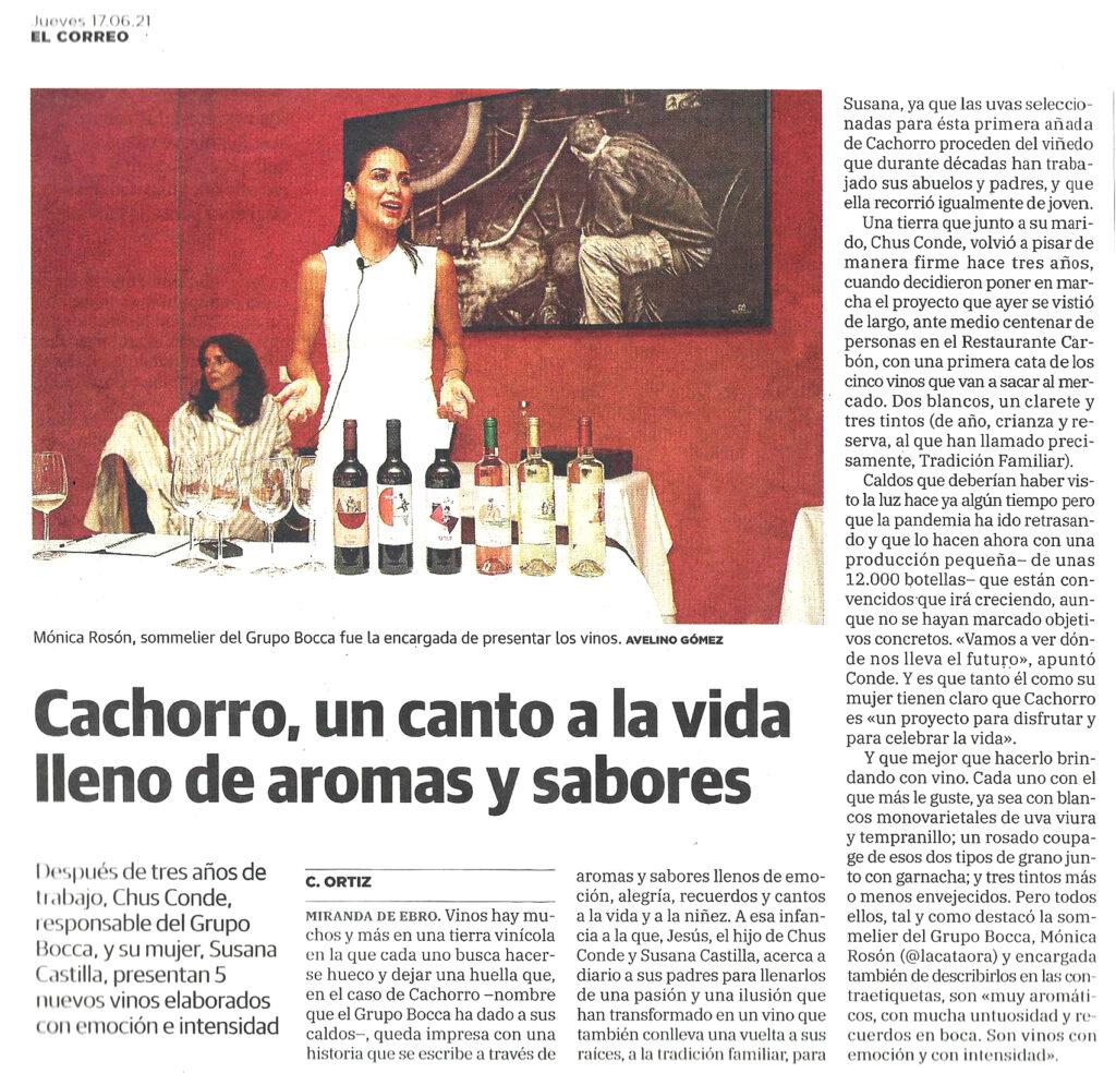 Después de tres años de trabajo, Chus Conde, responsable del Grupo Bocca, y su mujer, Susana Castilla, presentan 5 nuevos vinos elaborados con emoción e intensidad